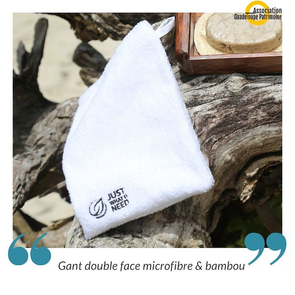 Gant double face microfibre & bambou by Just What U Need